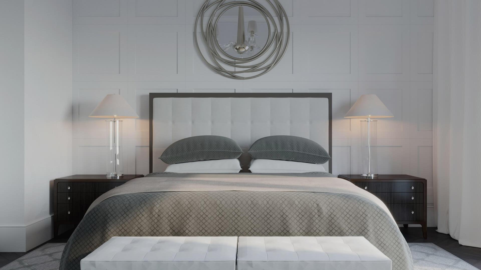 Интерьер спальни, вариант 1