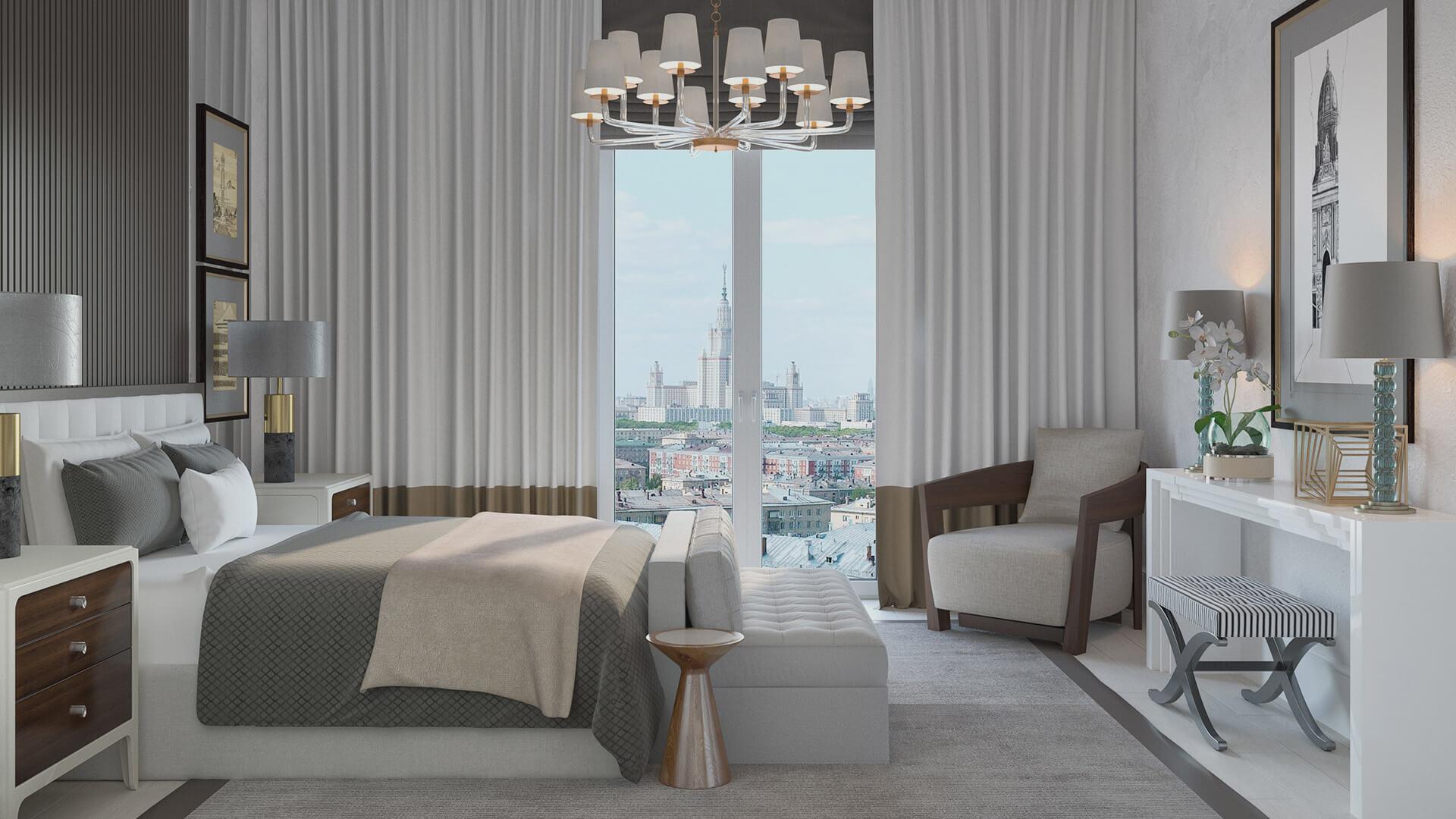 Интерьер спальни, вариант 2, вид 2
