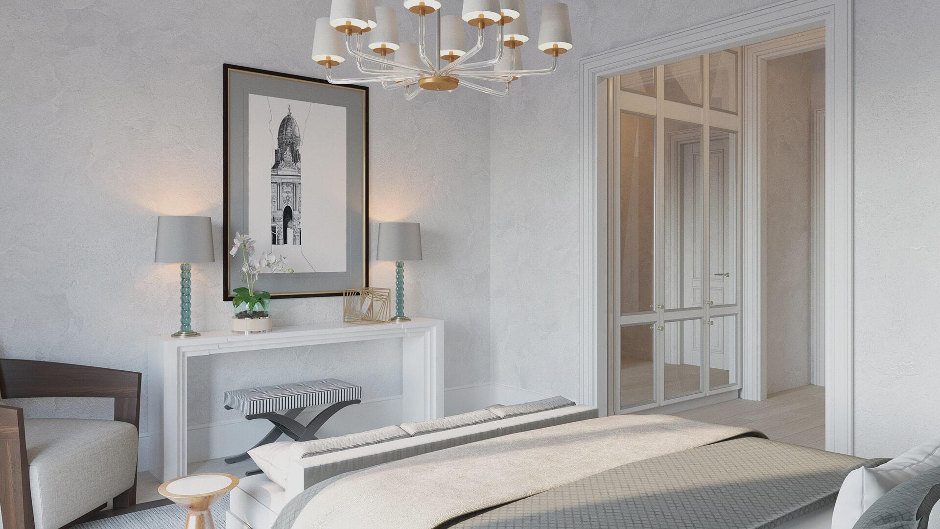 Интерьер спальни, вариант 2, вид 3